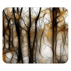 Fall Forest Artistic Background Double Sided Flano Blanket (small)  by Simbadda