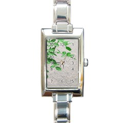 Plants Over Wall Rectangle Italian Charm Watch by dflcprints