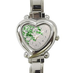 Plants Over Wall Heart Italian Charm Watch by dflcprints