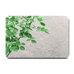 Plants Over Wall Small Doormat  by dflcprints