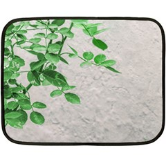 Plants Over Wall Double Sided Fleece Blanket (mini)  by dflcprints