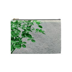 Plants Over Wall Cosmetic Bag (medium)  by dflcprints