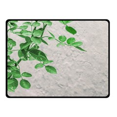 Plants Over Wall Fleece Blanket (small) by dflcprints