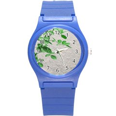 Plants Over Wall Round Plastic Sport Watch (s) by dflcprints