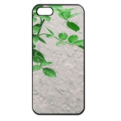 Plants Over Wall Apple Iphone 5 Seamless Case (black) by dflcprints