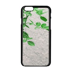 Plants Over Wall Apple Iphone 6/6s Black Enamel Case by dflcprints