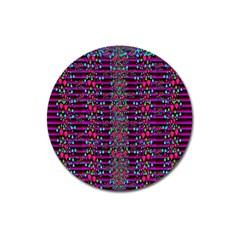 Raining Rain And Mermaid Shells Pop Art Magnet 3  (round) by pepitasart