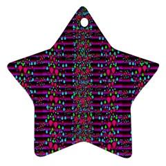 Raining Rain And Mermaid Shells Pop Art Star Ornament (two Sides) by pepitasart