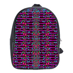 Raining Rain And Mermaid Shells Pop Art School Bags (xl)  by pepitasart