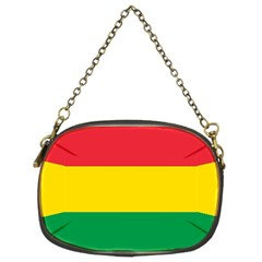 Rasta Colors Red Yellow Gld Green Stripes Pattern Ethiopia Chain Purses (two Sides)  by yoursparklingshop