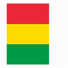Rasta Colors Red Yellow Gld Green Stripes Pattern Ethiopia Small Garden Flag (two Sides) by yoursparklingshop