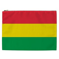 Rasta Colors Red Yellow Gld Green Stripes Pattern Ethiopia Cosmetic Bag (xxl)  by yoursparklingshop