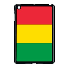 Rasta Colors Red Yellow Gld Green Stripes Pattern Ethiopia Apple Ipad Mini Case (black) by yoursparklingshop