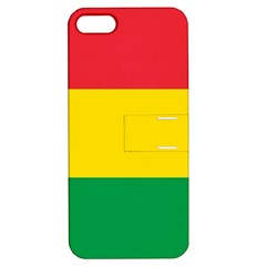 Rasta Colors Red Yellow Gld Green Stripes Pattern Ethiopia Apple Iphone 5 Hardshell Case With Stand by yoursparklingshop