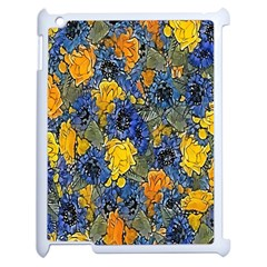 Floral Pattern Background Apple Ipad 2 Case (white) by Simbadda