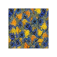 Floral Pattern Background Acrylic Tangram Puzzle (4  X 4 ) by Simbadda