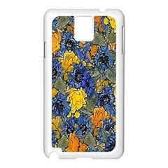 Floral Pattern Background Samsung Galaxy Note 3 N9005 Case (white) by Simbadda