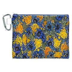 Floral Pattern Background Canvas Cosmetic Bag (xxl) by Simbadda