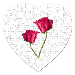 Red Roses Photo Jigsaw Puzzle (heart) by dflcprints