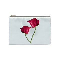 Red Roses Photo Cosmetic Bag (medium)  by dflcprints