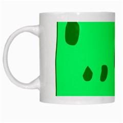 Alien Spon Green White Mugs by Alisyart