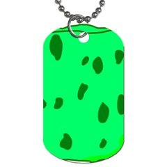 Alien Spon Green Dog Tag (two Sides) by Alisyart