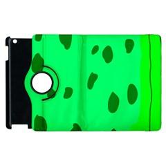 Alien Spon Green Apple Ipad 3/4 Flip 360 Case by Alisyart