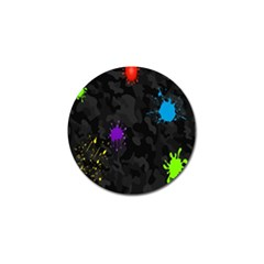 Black Camo Spot Green Red Yellow Blue Unifom Army Golf Ball Marker (10 Pack) by Alisyart