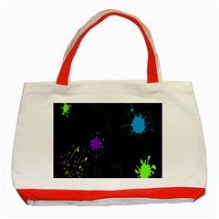 Black Camo Spot Green Red Yellow Blue Unifom Army Classic Tote Bag (red) by Alisyart