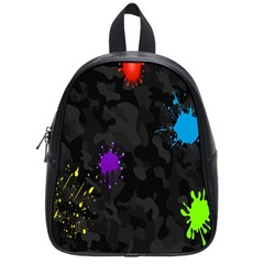 Black Camo Spot Green Red Yellow Blue Unifom Army School Bags (small)  by Alisyart
