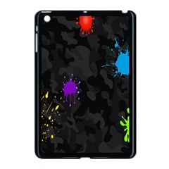 Black Camo Spot Green Red Yellow Blue Unifom Army Apple Ipad Mini Case (black) by Alisyart
