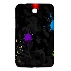 Black Camo Spot Green Red Yellow Blue Unifom Army Samsung Galaxy Tab 3 (7 ) P3200 Hardshell Case  by Alisyart