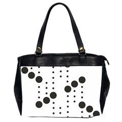 Black Circle Office Handbags (2 Sides)  by Alisyart