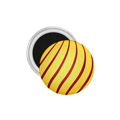 Yellow Striped Easter Egg Gold 1 75  Magnets by Alisyart