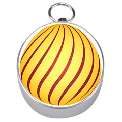 Yellow Striped Easter Egg Gold Silver Compasses by Alisyart