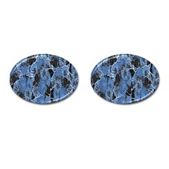Floral Pattern Background Seamless Cufflinks (oval) by Simbadda
