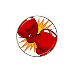 Boxing Gloves Red Orange Sport Hat Clip Ball Marker by Alisyart