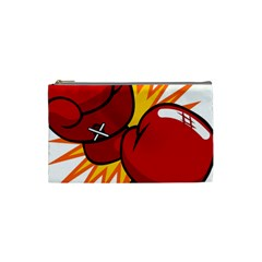 Boxing Gloves Red Orange Sport Cosmetic Bag (small)  by Alisyart