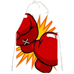 Boxing Gloves Red Orange Sport Full Print Aprons by Alisyart