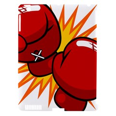 Boxing Gloves Red Orange Sport Apple Ipad 3/4 Hardshell Case (compatible With Smart Cover) by Alisyart