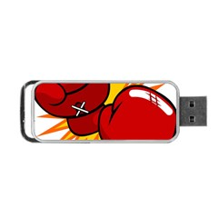 Boxing Gloves Red Orange Sport Portable Usb Flash (one Side) by Alisyart