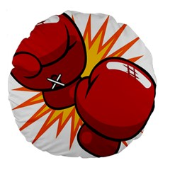 Boxing Gloves Red Orange Sport Large 18  Premium Flano Round Cushions by Alisyart