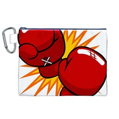 Boxing Gloves Red Orange Sport Canvas Cosmetic Bag (xl) by Alisyart