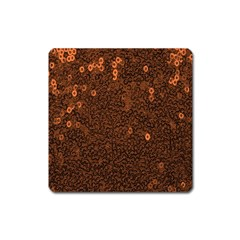 Brown Sequins Background Square Magnet by Simbadda