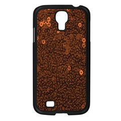 Brown Sequins Background Samsung Galaxy S4 I9500/ I9505 Case (black) by Simbadda