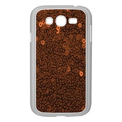 Brown Sequins Background Samsung Galaxy Grand Duos I9082 Case (white) by Simbadda
