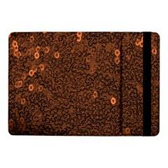 Brown Sequins Background Samsung Galaxy Tab Pro 10 1  Flip Case by Simbadda