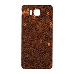 Brown Sequins Background Samsung Galaxy Alpha Hardshell Back Case by Simbadda