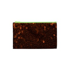 Brown Sequins Background Cosmetic Bag (xs) by Simbadda