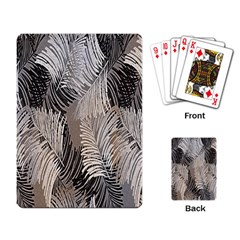 Floral Pattern Background Playing Card by Simbadda